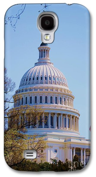 Buildin Galaxy S4 Cases - The Capitol Building 4 Galaxy S4 Case by Marcus Dagan