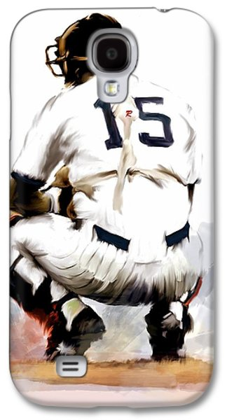 The Captain  Thurman Munson Galaxy S4 Case by Iconic Images Art Gallery David Pucciarelli