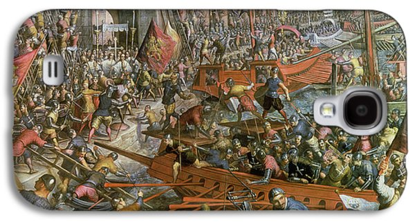 4th Paintings Galaxy S4 Cases - The Capture of Constantinople in 1204 Galaxy S4 Case by Jacopo Robusti Tintoretto