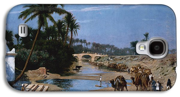 Orientalists Galaxy S4 Cases - The Caravan Galaxy S4 Case by Jean Leon Gerome