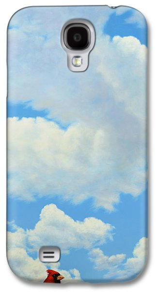 Heavens Paintings Galaxy S4 Cases - The Cardinal Galaxy S4 Case by James W Johnson