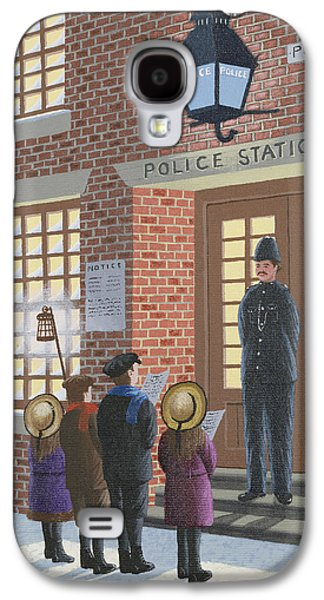Policeman Galaxy S4 Cases - The Carolers Galaxy S4 Case by Peter Szumowski