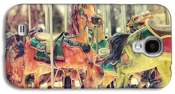 Vintage Photographs Galaxy S4 Cases - The Carousel Galaxy S4 Case by Carrie Ann Grippo-Pike