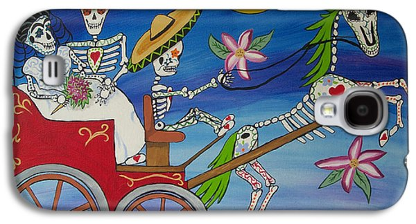 Diego Rivera Galaxy S4 Cases - The Carriage Ride Day of the Dead Galaxy S4 Case by Julie Ellison