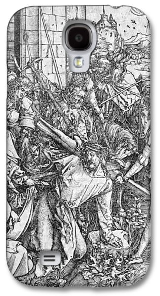 Saviour Drawings Galaxy S4 Cases - The carrying of the cross Galaxy S4 Case by Albrecht Durer or Duerer