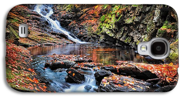Nature Scene Photographs Galaxy S4 Cases - The Cascades of Chesterfield Gorge Galaxy S4 Case by Thomas Schoeller