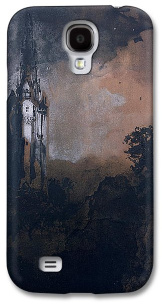 Pen And Ink Drawing Drawings Galaxy S4 Cases - The Castle in the Moonlight  Galaxy S4 Case by Victor Hugo