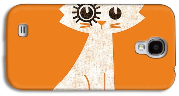 Pet Digital Art Galaxy S4 Cases - The cat in clockwork orange costume Galaxy S4 Case by Budi Satria Kwan