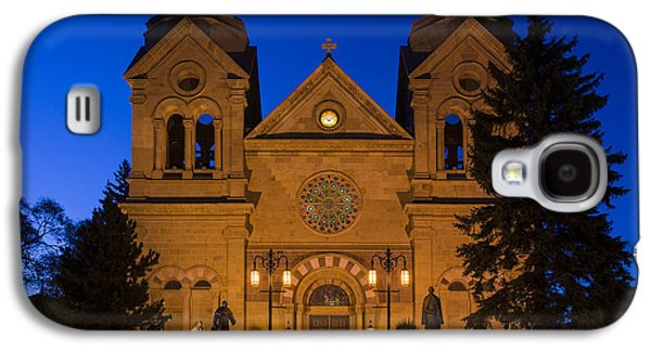 Downtown San Francisco Galaxy S4 Cases - The Cathedral Basilica Of Saint Francis Of Assisi - Santa Fe New Mexico Galaxy S4 Case by Brian Harig