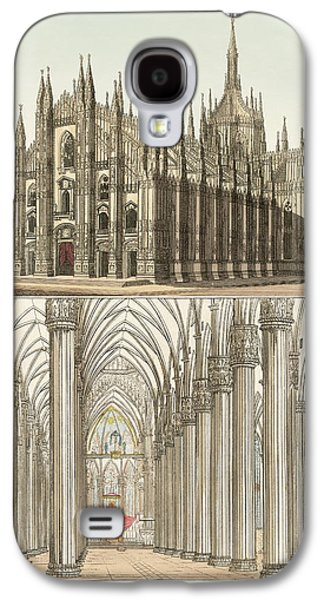 The Cathedral Of Milan Galaxy S4 Case by Splendid Art Prints