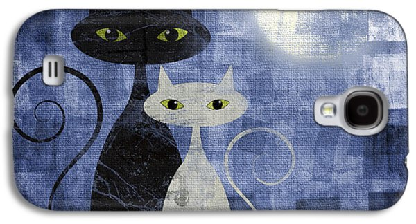 Graphic Pyrography Galaxy S4 Cases - The Cats Galaxy S4 Case by Jelena Jovanovic
