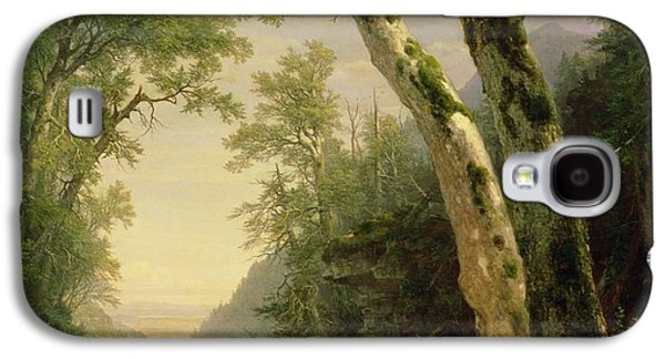 Wilderness Paintings Galaxy S4 Cases - The Catskills Galaxy S4 Case by Asher Brown Durand