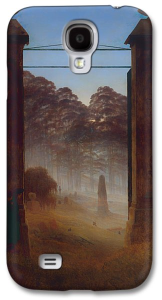 Headstones Paintings Galaxy S4 Cases - The Cemetery Galaxy S4 Case by Caspar David Friedrich