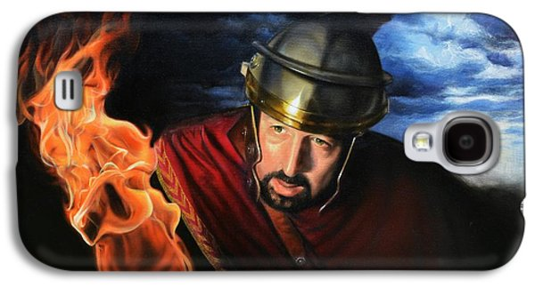 Bible Paintings Galaxy S4 Cases - The Centurion Galaxy S4 Case by James Loveless