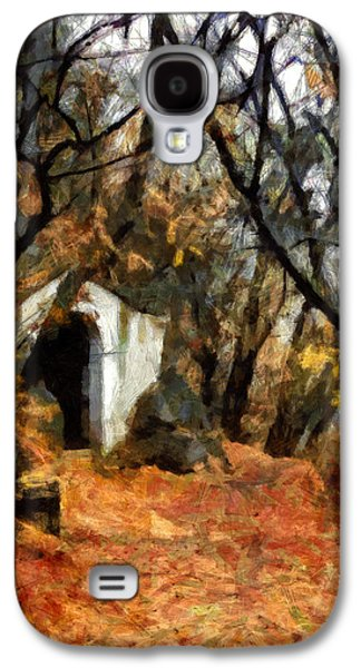 Samhain Paintings Galaxy S4 Cases - The Chapel in the Rock - Holy Hill Mikulov Galaxy S4 Case by Menega Sabidussi