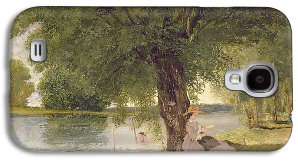 In The Shade Galaxy S4 Cases - The Charente At Port Bertaud Galaxy S4 Case by Gustave Courbet