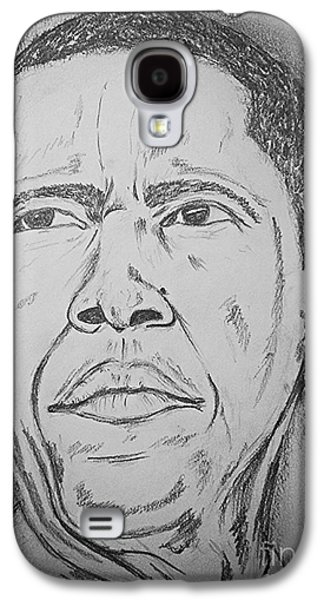 Barack Obama Drawings Galaxy S4 Cases - The Chief Obama Galaxy S4 Case by Collin A Clarke