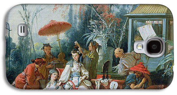 Aristocrat Galaxy S4 Cases - The Chinese Garden, C.1742 Oil On Canvas Galaxy S4 Case by Francois Boucher