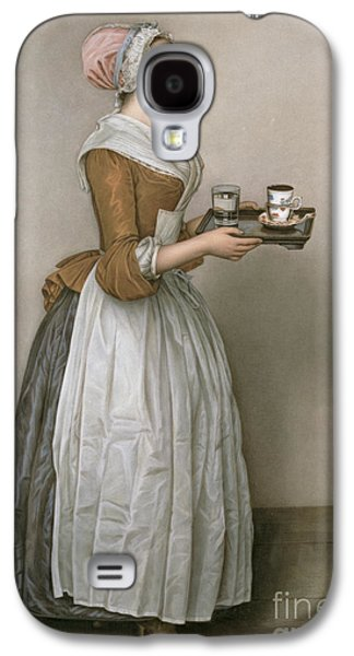 Coffee Drinking Galaxy S4 Cases - The Chocolate Girl Galaxy S4 Case by Jean-Etienne Liotard