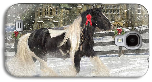 Christmas Greeting Galaxy S4 Cases - The Christmas Pony Galaxy S4 Case by Fran J Scott
