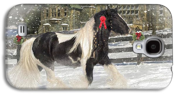 Gypsy Galaxy S4 Cases - The Christmas Pony Galaxy S4 Case by Fran J Scott