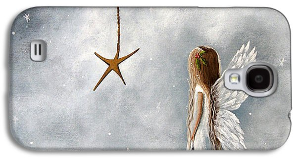 Winter Prints Galaxy S4 Cases - The Christmas Star Original Artwork Galaxy S4 Case by Shawna Erback