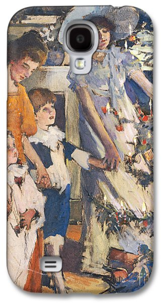 Christmas Eve Paintings Galaxy S4 Cases - The Christmas Tree Galaxy S4 Case by Elizabeth Adela Stanhope Forbes