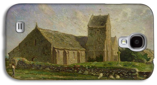 Weathervane Galaxy S4 Cases - The Church at Greville Galaxy S4 Case by Jean-Francois Millet