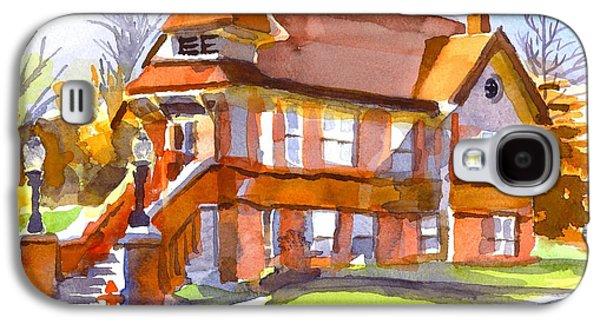 Streetscenes Paintings Galaxy S4 Cases - The Church on Shepherd Street 3 Galaxy S4 Case by Kip DeVore