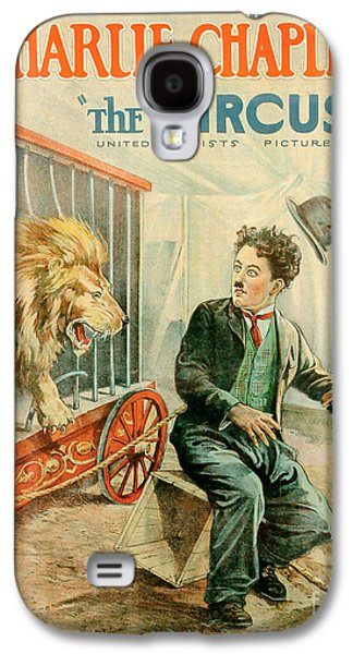 Cage Paintings Galaxy S4 Cases - The Circus Charlie Chaplin Movie Poster Galaxy S4 Case by MMG Archive Prints