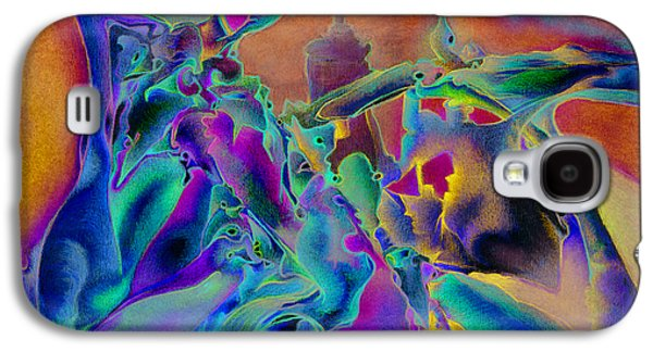 Blue Abstracts Drawings Galaxy S4 Cases - The Citadel Galaxy S4 Case by Bodhi