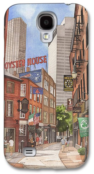 Red Sox Paintings Galaxy S4 Cases - The City on a Hill Galaxy S4 Case by Josh Marks
