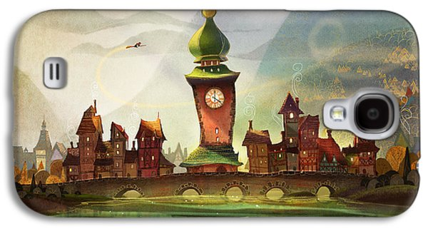 Towers Digital Galaxy S4 Cases - The Clock Tower Galaxy S4 Case by Kristina Vardazaryan