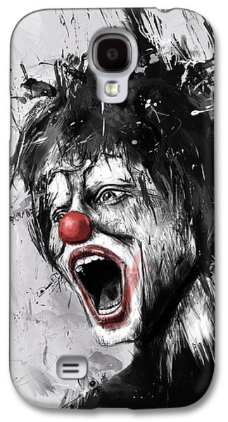 Surrealism Mixed Media Galaxy S4 Cases - The Clown Galaxy S4 Case by Balazs Solti