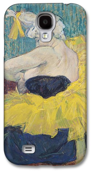 Dressing Room Galaxy S4 Cases - The Clowness Cha-u-kao In A Tutu, 1895 Oil On Cardboard Galaxy S4 Case by Henri de Toulouse-Lautrec