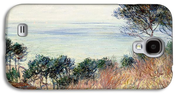 Green Foliage Galaxy S4 Cases - The Coast of Varengeville Galaxy S4 Case by Claude Monet