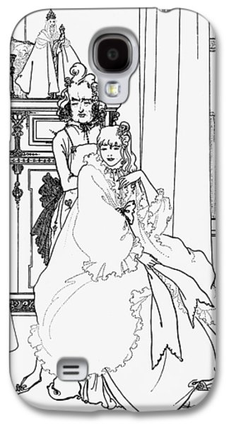 Illustrator Galaxy S4 Cases - The Coiffing Galaxy S4 Case by Aubrey Beardsley