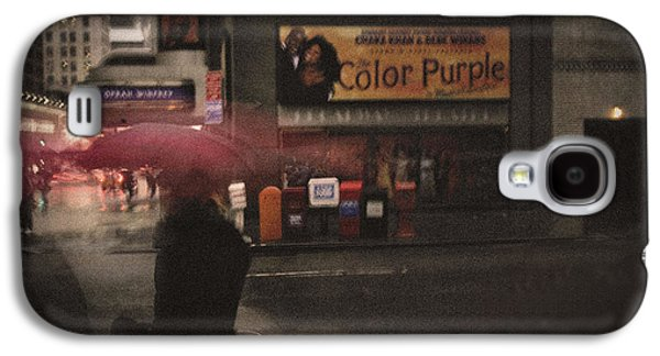 Nyc Rain Galaxy S4 Cases - The Color Purple Galaxy S4 Case by Linda Unger