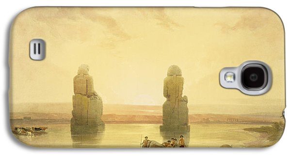 River Flooding Galaxy S4 Cases - The Colossi of Memnon Galaxy S4 Case by David Roberts