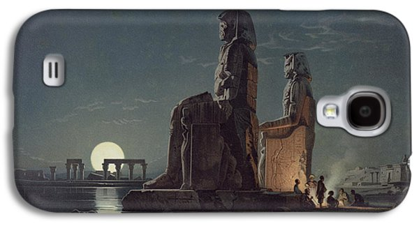 The Colossi Of Memnon, Thebes, One Galaxy S4 Case by Carl Friedrich Heinrich Werner