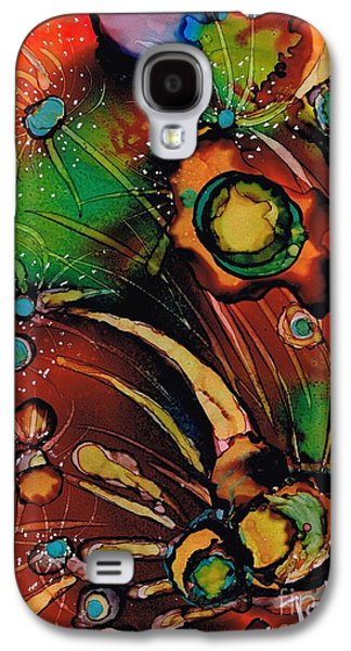 Alga Paintings Galaxy S4 Cases - The colours of my mind.. Galaxy S4 Case by Jolanta Anna Karolska