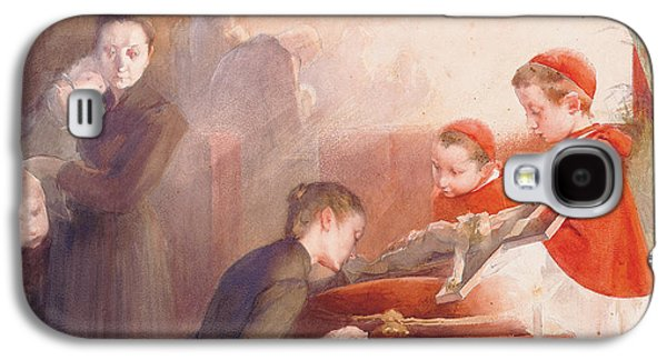 Innocence Paintings Galaxy S4 Cases - The Confirmation Galaxy S4 Case by Henri Jules Jean Geoffroy