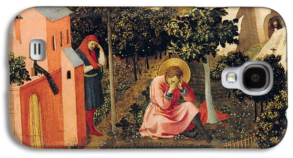 Sadness Paintings Galaxy S4 Cases - The Conversion of Saint Augustine Galaxy S4 Case by Fra Angelico
