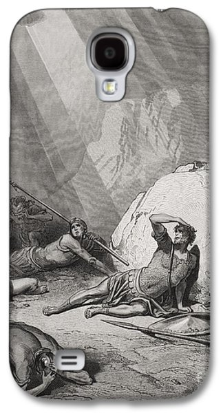 Saints Drawings Galaxy S4 Cases - The Conversion of St. Paul Galaxy S4 Case by Gustave Dore