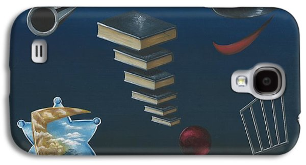 Law Enforcement Paintings Galaxy S4 Cases - The Cop Galaxy S4 Case by Gary Wahlbeck