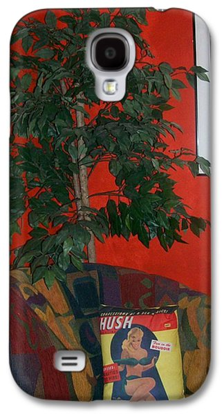 Chair Pyrography Galaxy S4 Cases - The Corner Chair Galaxy S4 Case by Roxanne Butler