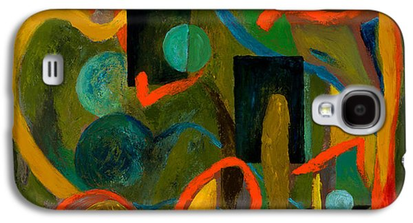 Cosmic Space Paintings Galaxy S4 Cases - The Cosmic Garden Galaxy S4 Case by Larry Martin