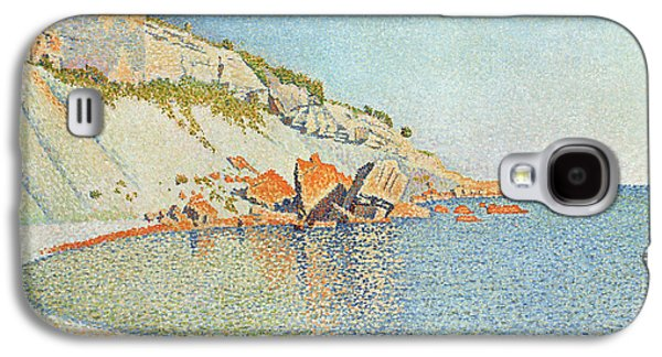 Pointillist Paintings Galaxy S4 Cases - The Cote D azur Galaxy S4 Case by Paul Signac