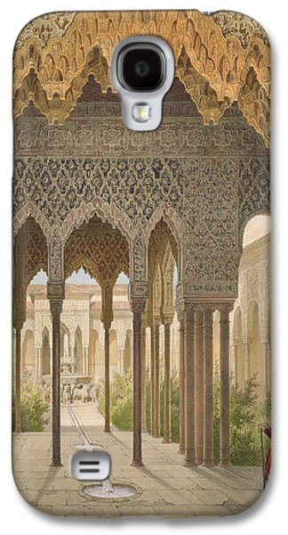 Orientalists Galaxy S4 Cases - The Court Of The Lions Galaxy S4 Case by Leon Auguste Asselineau