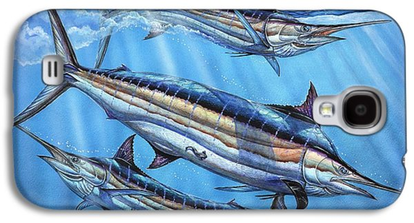 Blue Marlin Galaxy S4 Cases - The Courtship Galaxy S4 Case by Terry Fox